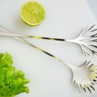 Salad set Latimeris Stylework Finland steel finnish design