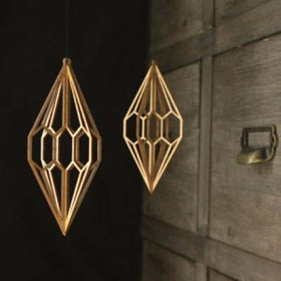 wooden diamond
