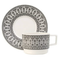 Sirkus Cup and saucer, black, Stylework Finland