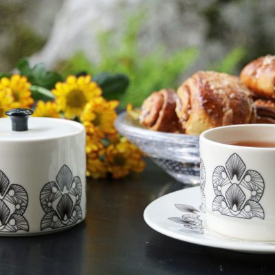 Helmi (Pearl) tea / coffee cup and jar Stylework Finland