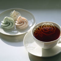 Rice porcelain Rose cup and saucer Stylework Finland