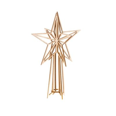 Tree-top-star-small-wood_Valona- stylework finland